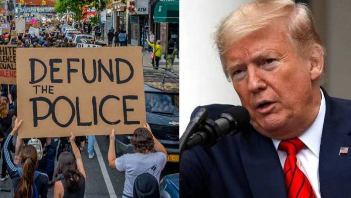 US President Donald Trump rules out defunding of police, says they protect people by risking own lives