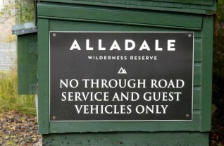 Alladle entrance sign 1