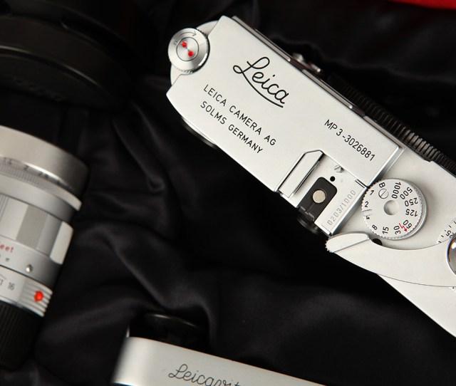 Lot 1035lr A Leica Mp3 Lhsa Special Edition Set 2005 Chrome Serial No 3026881 With Leitz