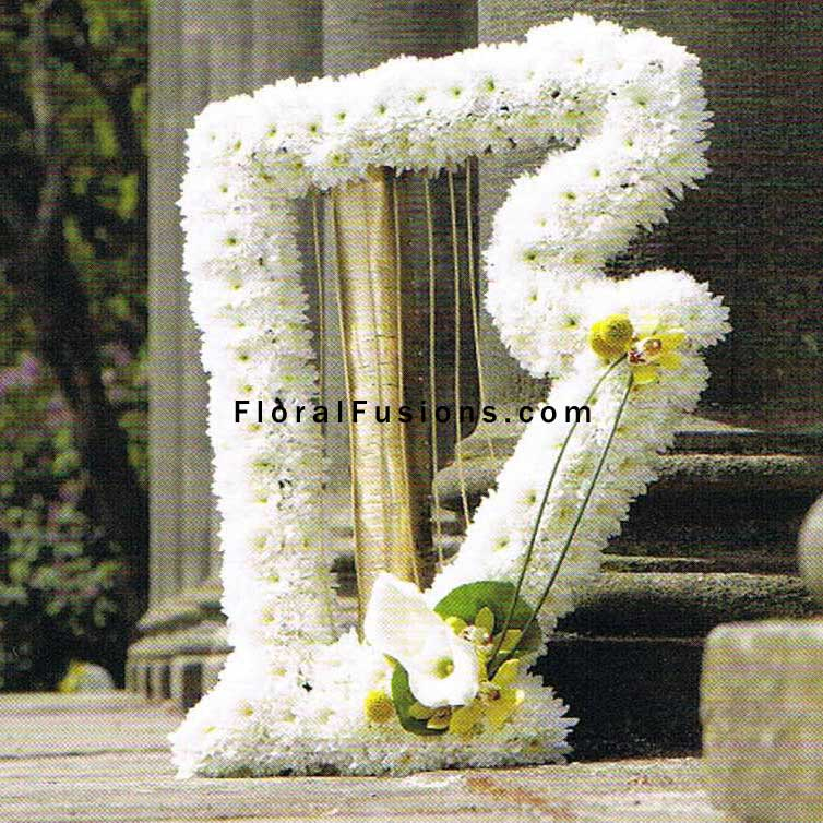 Harp Funeral Flowers Leicester