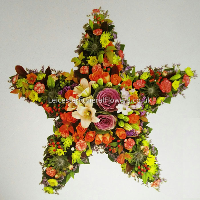 Star Funeral Tribute Funeral Flowers Leicester