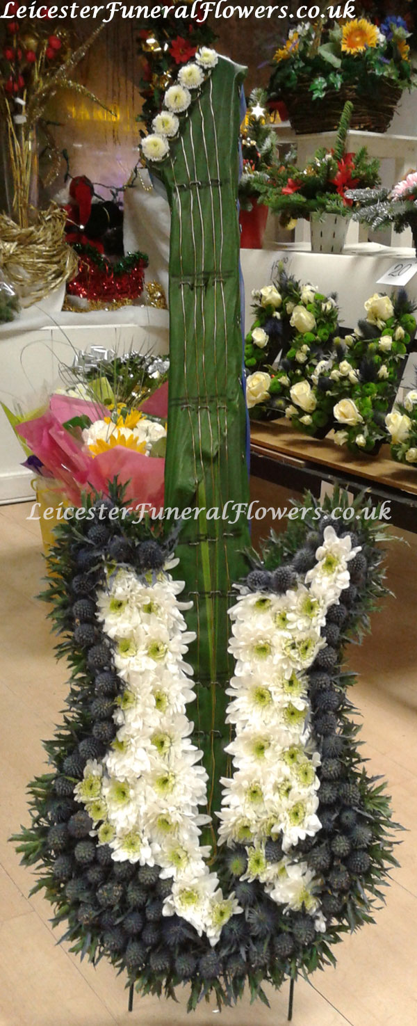 Guitar Funeral Tribute Funeral Flowers Leicester