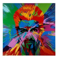 Damien Hirst has painted George Michael to raise money for HIV/AIDS, and it's beautiful