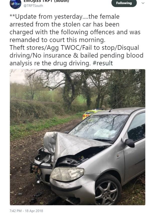 drugs car crash