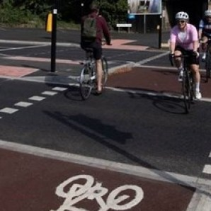 Image of cyclists on a cycle path