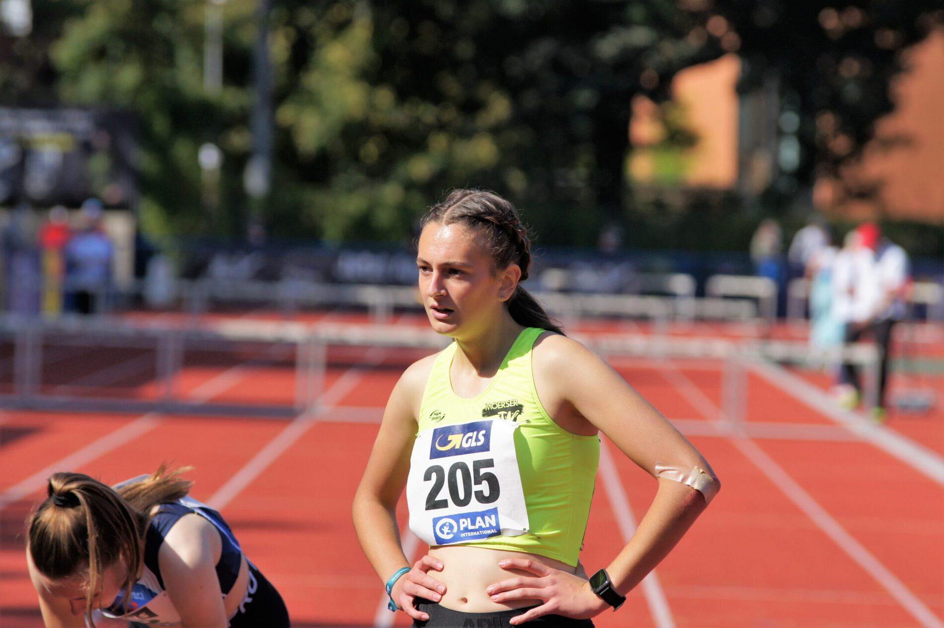 Charlotte Pontow läuft auf Platz 13 in Deutschland