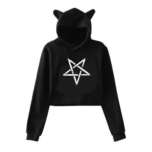 Pentagramm Cat Hoodie