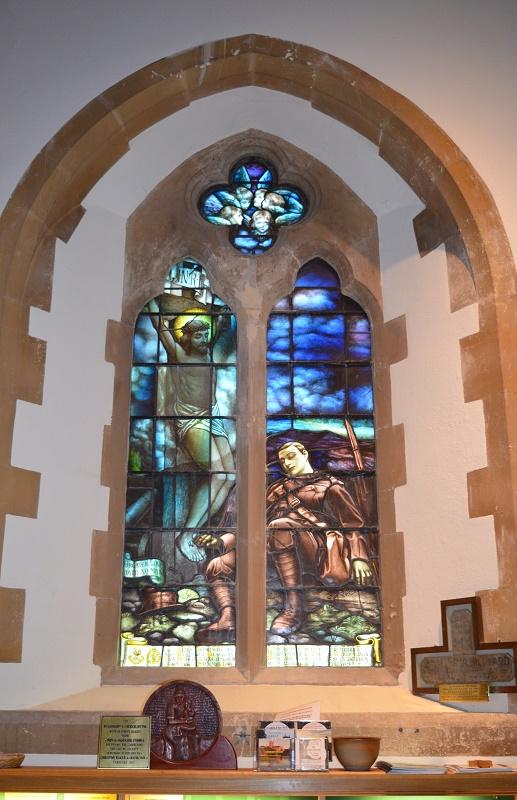 WWI Stained Glass Window