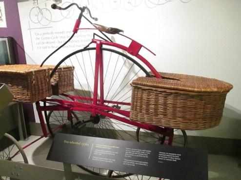 Five wheeled postal bicycle