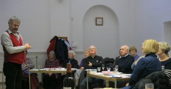 Peter Monk telling stories