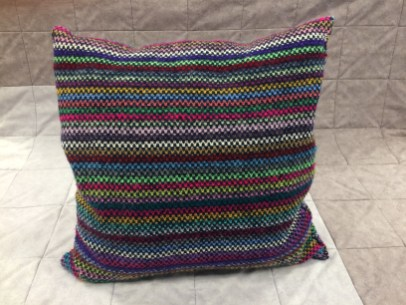 Pauline's Knitted Cushion