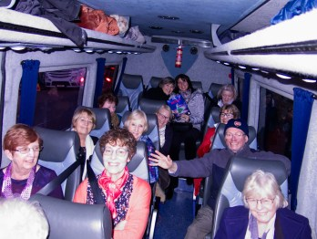 A happy crowd on their way home after a great show.