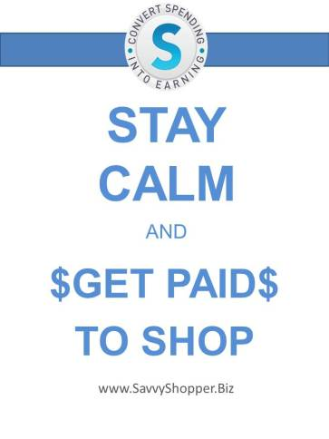 STAY calm get paid to shop