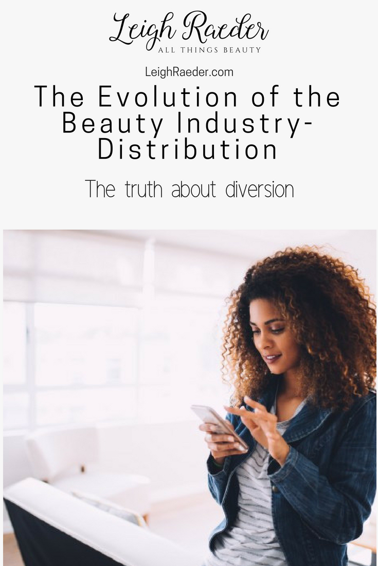 The Evolution of the Beauty Industry-Distribution. We are going through a huge transformation of the distribution.  Between the salon, the Sephoras and Ultas-salons not sure how to cope with it.