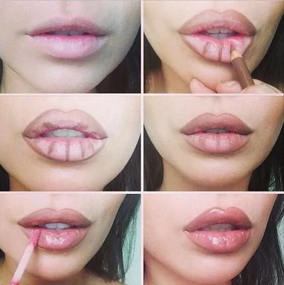 Glossy lip Contour