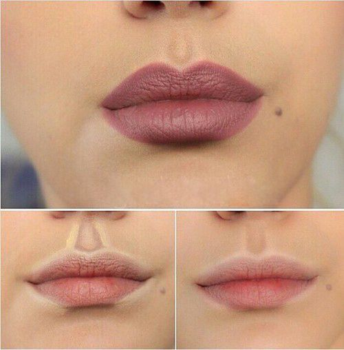 Highlight and contour your lips