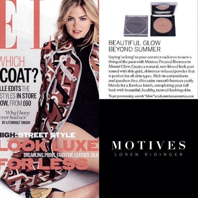 Motives Miami Glow Bronzer in Elle Magazine