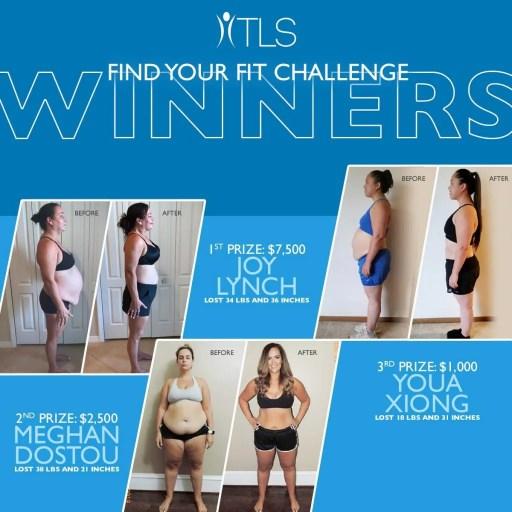 TLS 21 day weightless challenge women winners