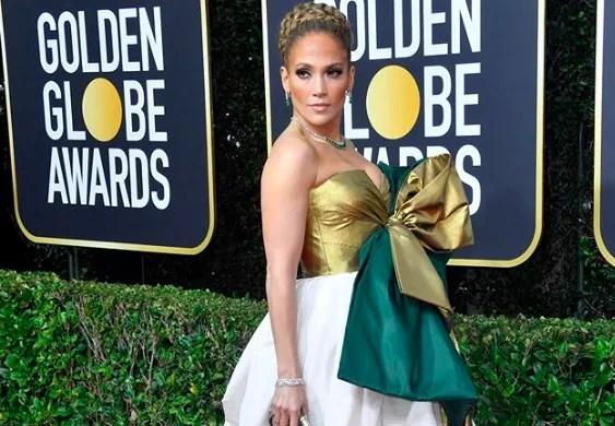 JLo Golden Globes Red Carpet Makeup