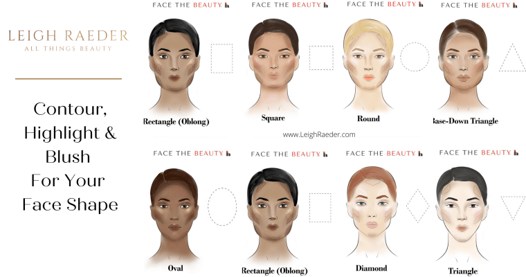 How to Contour, Highlight & Apply Blush For Your Face Shape
