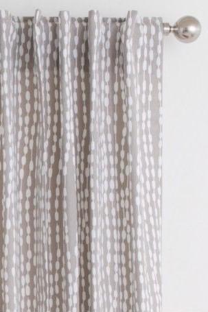 Habitat Grey Patterned Readymade Curtains