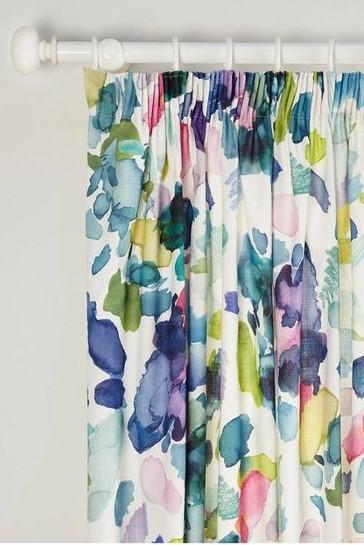 John Lewis Bluebell Grey Readymade Curtains