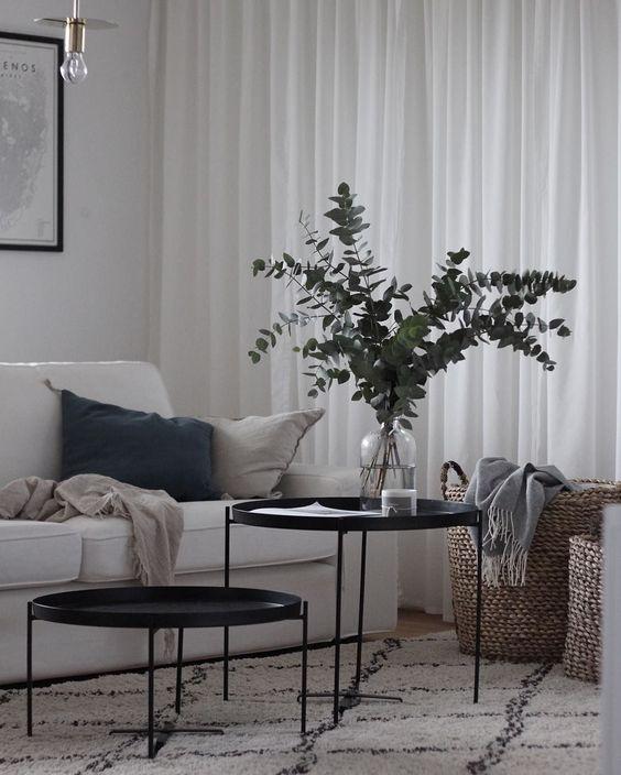 Love Home Interior Readymade Curtains Inspiration Scandi Living Room