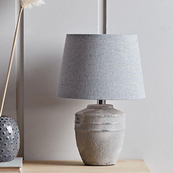 cosy autumn blog - concrete lamp