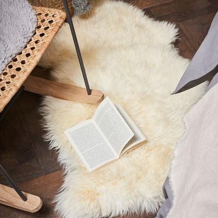 cosy autumn blog - sheepskin rug