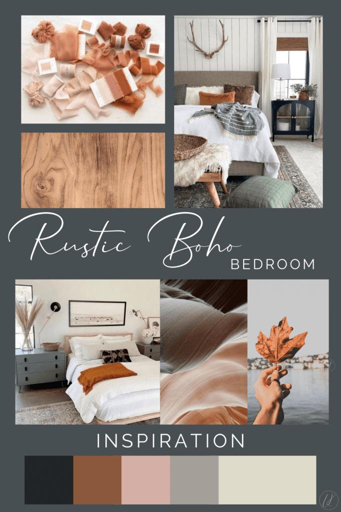 Inspiration board for bedroom design