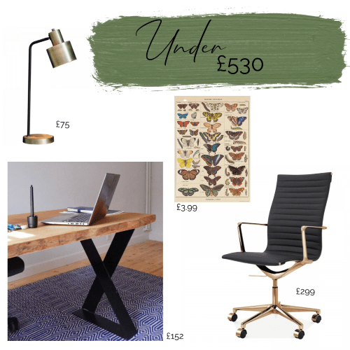 desk chair lamp and art for home office interior design