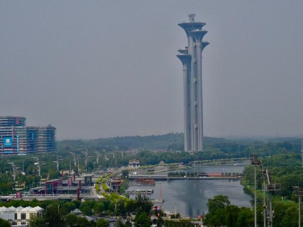 Beijing Tower from The Bird's Nest Air Corridor Top Wonder Beijing