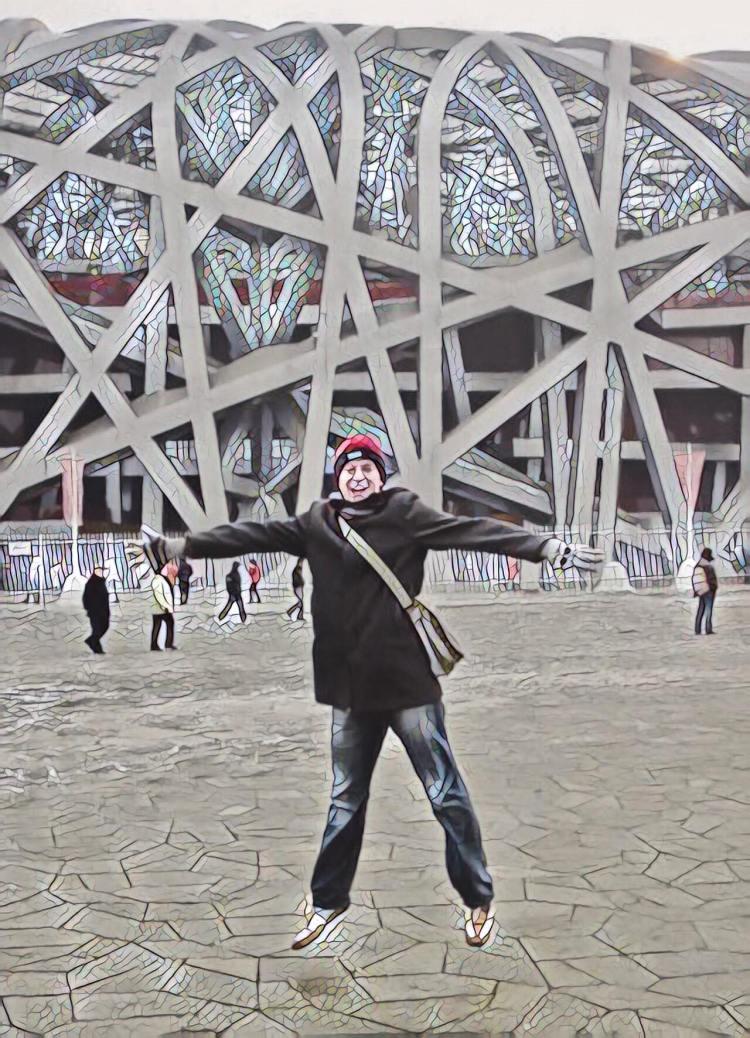 The Bird's Nest National Stadium Beijing.