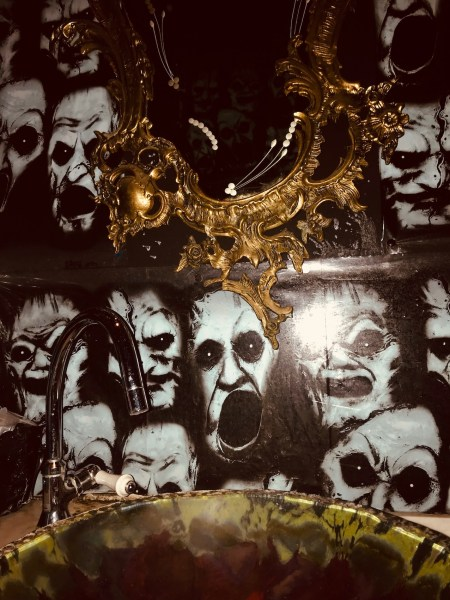 Toilet sink and mirror The Vampire Cafe Tokyo