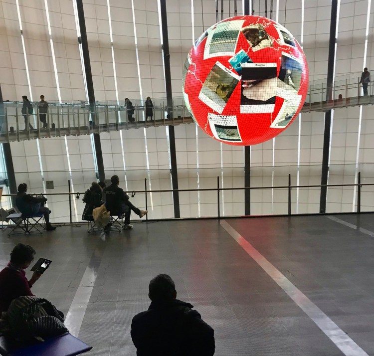 Oval Bridge Mirakian Museum of Emerging Science and Innovation Tokyo