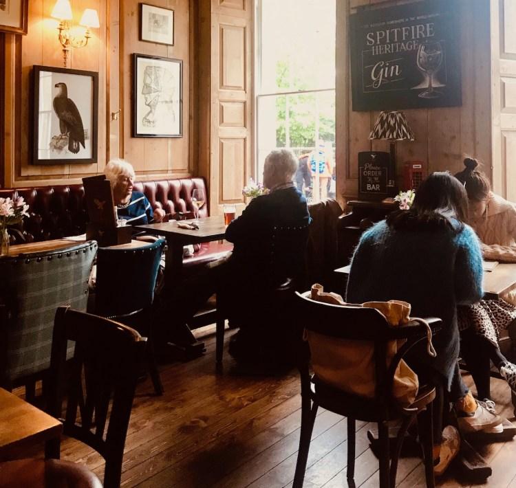 Inside The Eagle Pub Cambridge England.