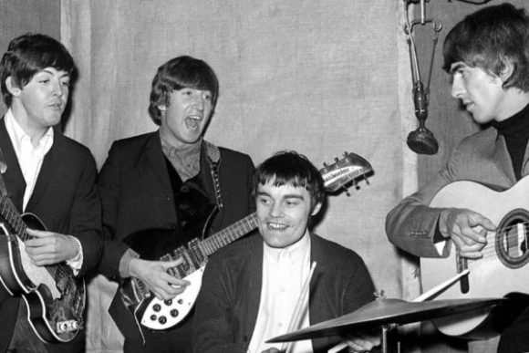 Jimmy Nicol with The Beatles 1964.