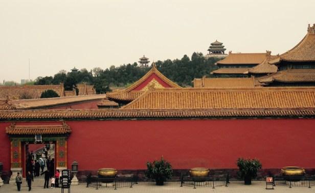 The Forbidden City skyline Beijing.
