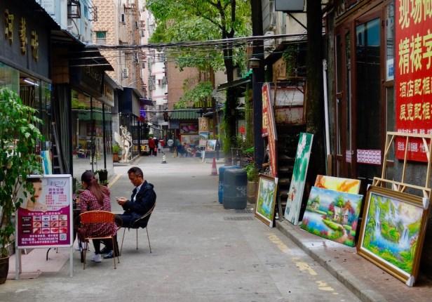 Visit Dafen Oil Painting Village Shenzhen.