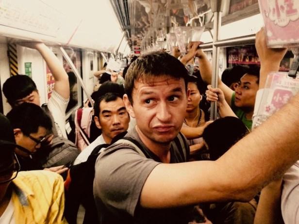 Golden week crowds Hangzhou China.