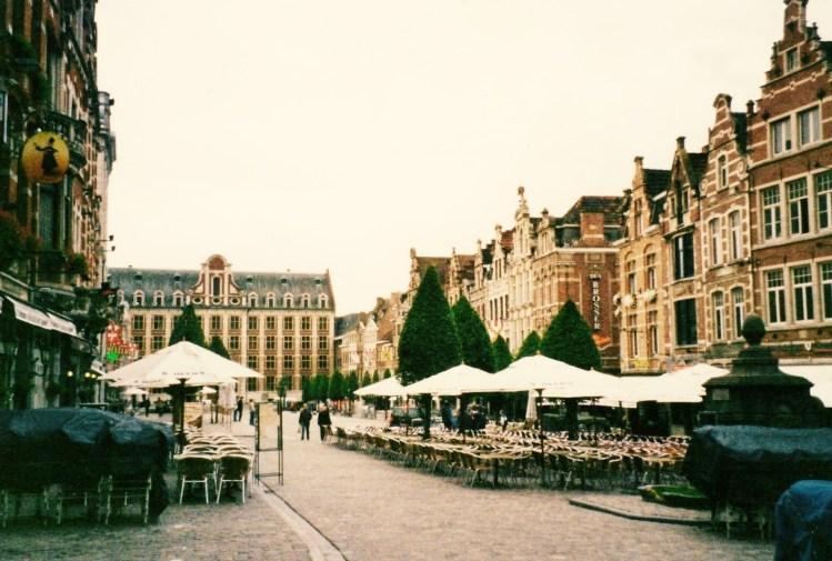 The Old Market De Oude Markt Leuven Belgium 2005.