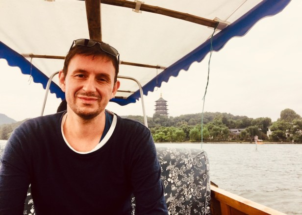 West Lake boat cruise Hangzhou China.