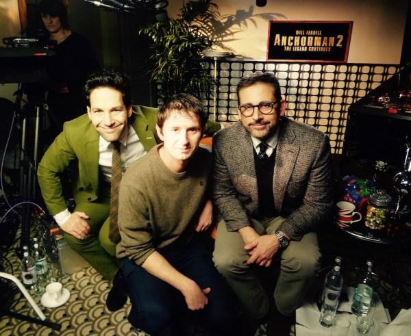Paul Rudd and Steve Carell Interview Anchorman 2.