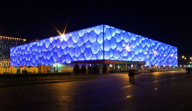 The Water Cube by night Beijing.