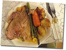Easter lamb w/roasted veggies