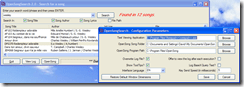 Showing the configuration dialog