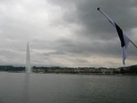 The famous fountain in lake Geneva