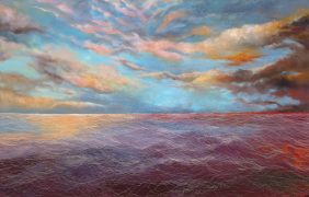 曜, Olana 3-2, 145.5 x 227 cm, oil on canvas, 2014