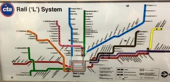 CTA - Chicago Transit Authority - El Map