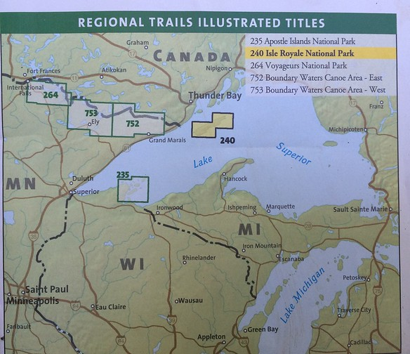 In case you're wondering where Isle Royale is.  Most people gave a blank stare when I said where I was going.